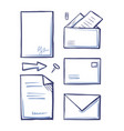 office paper and documents in letters set vector image vector image