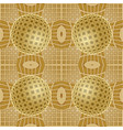 optical art background with 3d golden vector image vector image