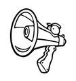 painted voice megaphone vector image