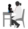 Pediatrician examining of baby vector image vector image