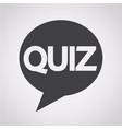 quiz speech bubble icon vector image vector image
