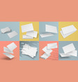 realistic business cards blank mockup of vector image vector image