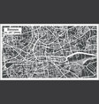 rennes france city map in retro style outline map vector image vector image