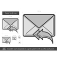 Reply to all line icon vector image vector image