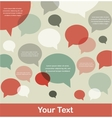 retro speech bubble background with a place for vector image vector image