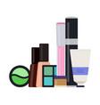 set decorative cosmetics icon flat isolated vector image
