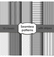 Set of classic grey seamless striped patterns vector image