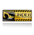 sign underConstruction vector image