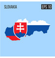 slovakia map border with flag eps10 vector image vector image