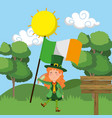 st patricks day elf vector image vector image