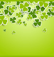 st patricks day green clovers abstract background vector image vector image