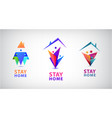 stay home save lives people vector image