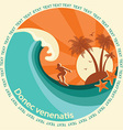 Surfering label vector image