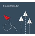 think differently vector image