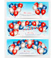 Three Independence Day banners vector image vector image