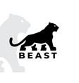 tiger silhouette logo vector image