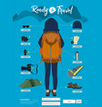 travel items and objects traveling ready vector image