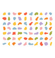 various blotch random color blobs round abstract vector image vector image