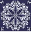 vintage elegant lace snowflake vector image vector image