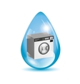 Washing machine in a water drop vector image vector image