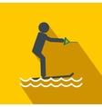 Water skiing flat icon vector image
