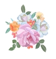Watercolor greeting card with roses for vector image vector image