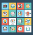 web services flat icons vector image vector image