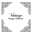 Decorative vintage and classic design element vector image