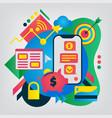 online banking modern flat vector image