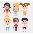 Set of kids on white backgroundDifferent dress vector image