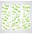 Colorful Vertical Set Of Floral Banners Modern vector image