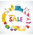Summer Sale collection background design vector image