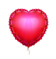 realistic air balloon in shape of elegant heart vector image
