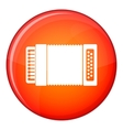 Accordion icon flat style vector image vector image