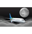 Airplane flying over the clouds vector image vector image
