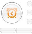 alarm-clock white button vector image