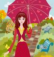 Autumn girl2 vector image vector image