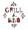 bbq and grill decorative meat lettering realistic vector image vector image