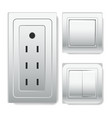 big socket with euro connector and light switches vector image vector image