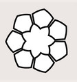 black and white honeycomb graphic round frame vector image vector image