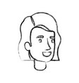 blurred silhouette of woman face with short hair vector image vector image