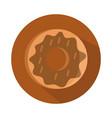 bread donut menu bakery food product block vector image vector image