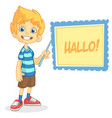 cartoon of blond boy vector image vector image