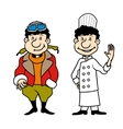 Character pilot and chef set vector image