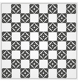 Chessboard ornate background vector image