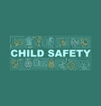 child care safety word concepts banner vector image vector image