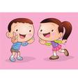 children talk and listening vector image