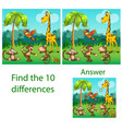 children the visual puzzle reveals ten vector image