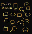clouds thoughts golden vector image vector image