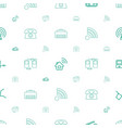 connect icons pattern seamless white background vector image vector image